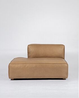 Hudson II open end left-facing - tan leather*