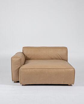 Hudson II wide corner left-facing - tan leather*