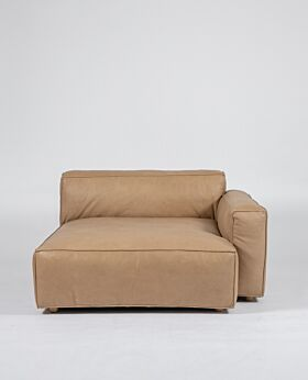 Hudson II wide corner right-facing - tan leather*