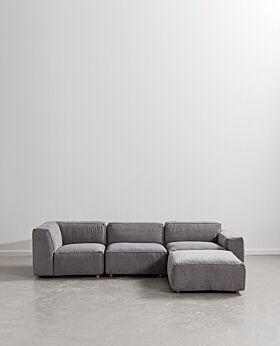 Hudson Sofa Stone grey
