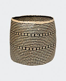 Imani seagrass basket- black/natural