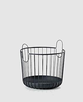 Zone Inu round metal basket - black - large