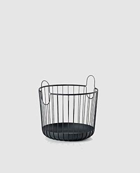 Zone Inu round metal basket - black - small