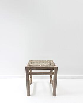 Island teak stool