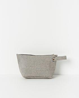 Isola wash bag - stripe canvas