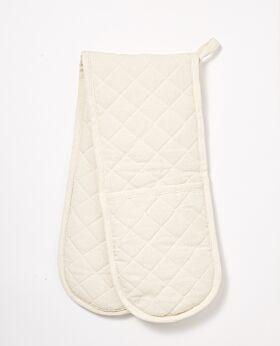 Izak cotton oven mitt - cream