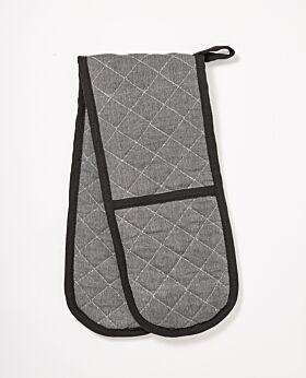 Izak cotton oven mitt - grey
