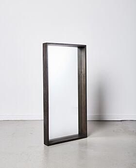 Jenson rectangular mirror - large - black wash