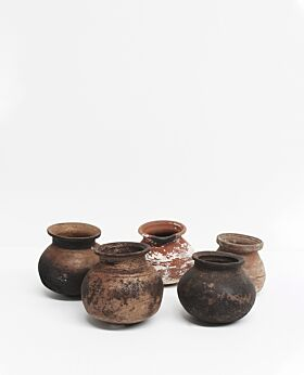 Kabir vintage clay pot - assorted