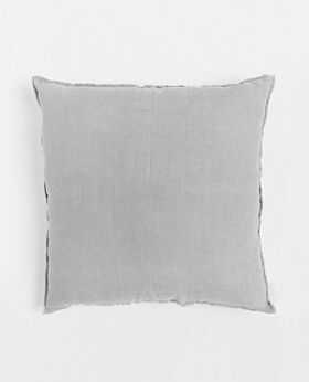 Keira linen euro cushion - warm grey