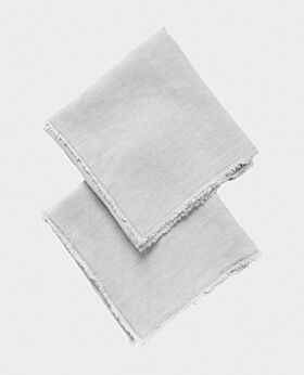 Keira linen pillow case set 2 - warm grey