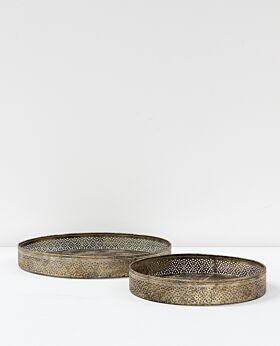 Kerala metal tray - small