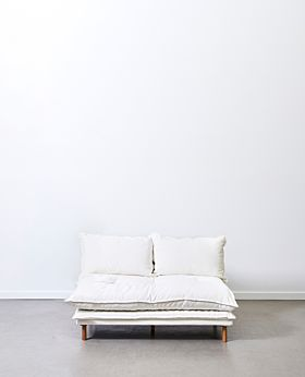 Lucas armless sofa - white