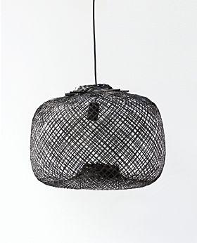 Laki bamboo pendant shade - black