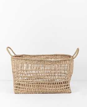Lally woven basket rectangular - large