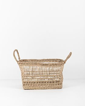 Lally woven basket rectangular - small