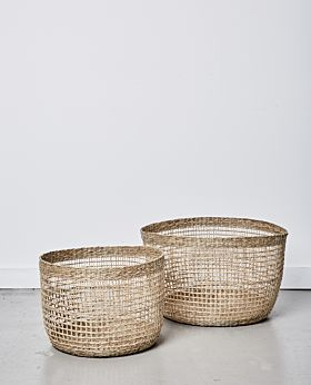 Lally woven basket no handle - set of 2
