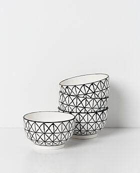 Leni bowl set of 4 - geometric