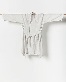 Lila linen bathrobe - dusk medium/large