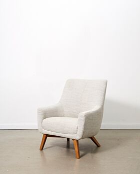 Lotte armchair - shell grey