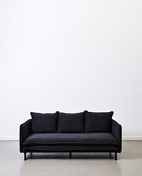 Lucas 3 seater sofa - black