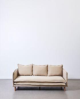 Lucas 3 seater sofa - linen