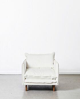 Lucas armchair - white