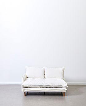 Lucas corner piece left facing - white