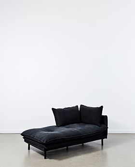 Lucas chaise left facing - black
