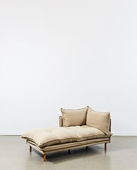 Lucas chaise left facing - linen