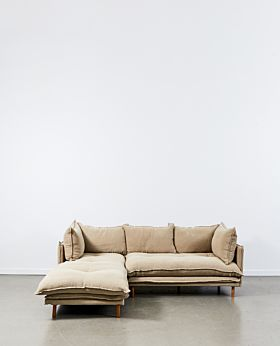 Lucas two-piece modular - left-facing chaise with right corner - linen