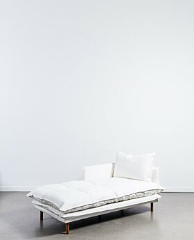 Lucas chaise left facing - white