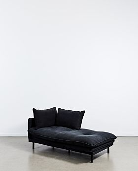 Lucas chaise right facing - black