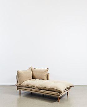 Lucas chaise right facing - linen