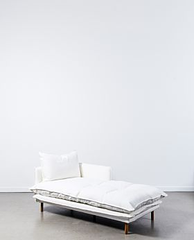 Lucas chaise right facing - white