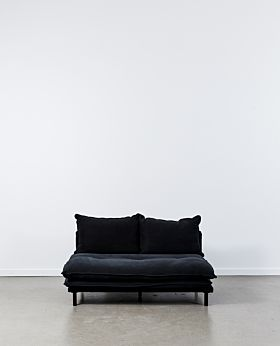 Lucas armless sofa - black