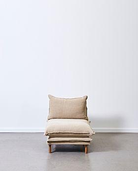 Lucas armless seat - linen