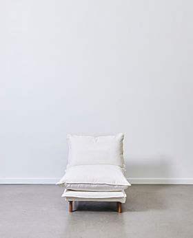 Lucas armless seat - white