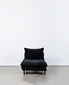 Lucas armless seat - black