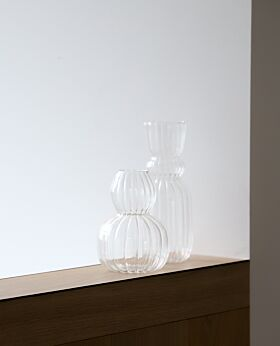 Lucia clear glass vase - small