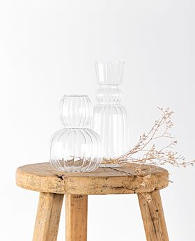 Lucia clear glass vase - large