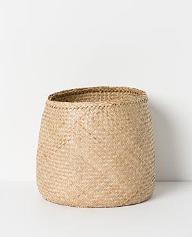 Lulu seagrass basket natural - large