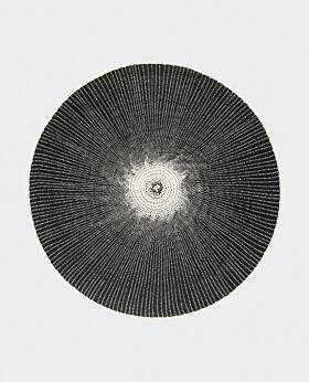 Luna paper placemat - black