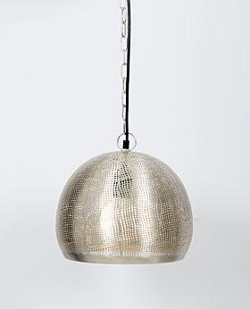 Malla metal pendant - silver - small