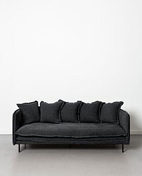 Marcello 3 seater sofa - black