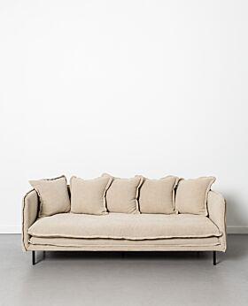 Marcello 3 seater sofa - linen