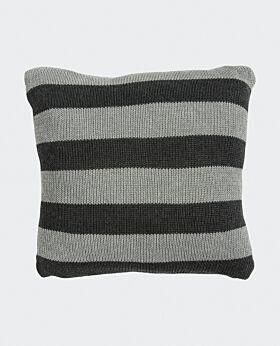 Marla cushion - grey charcoal stripe