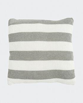 Marla cushion - grey white stripe