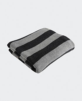 Marla throw - grey charcoal stripe