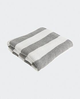 Marla throw - grey white stripe